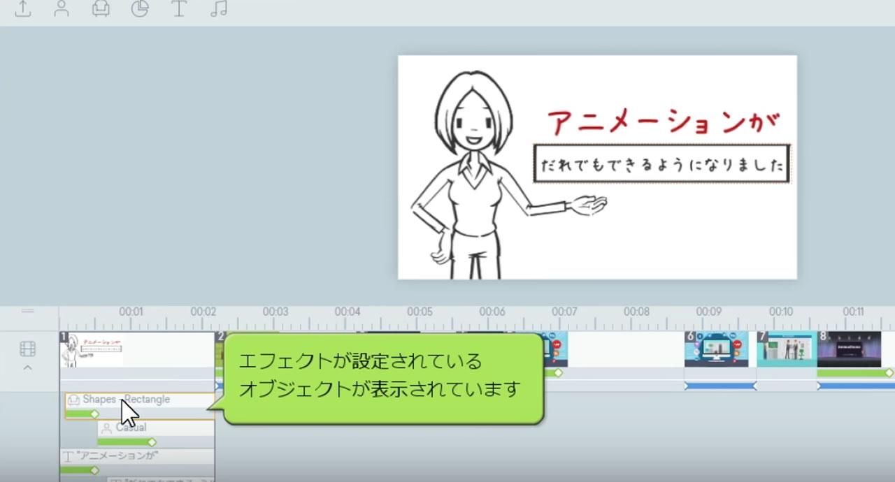 アニメーションの編集方法