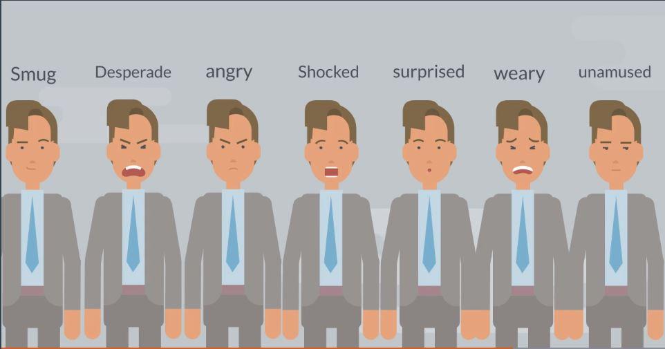 キャラクターに表情を付ける