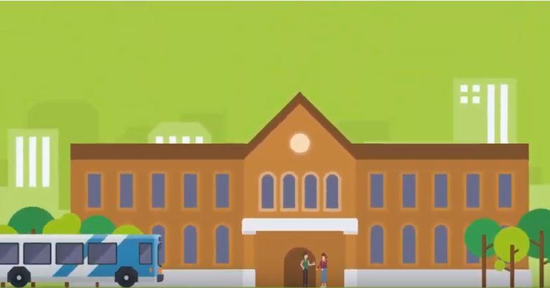 学校のアニメーション