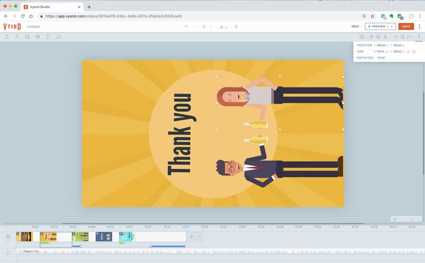縦型サイネージ動画を作る