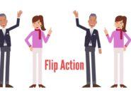 Flip action